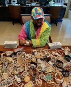 Watch – Floyd Mayweather Shows-Off Table Full of Expensive Jewelry