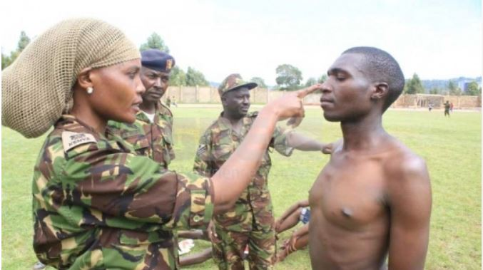 Video: KDF Recruits Scattered by a Swam of Bees