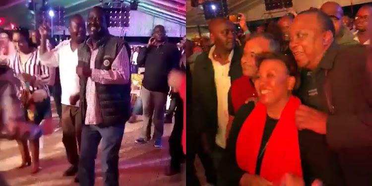 Bestfriends Uhuru Kenyatta and Raila Odinga dance the night away at UB40's concert