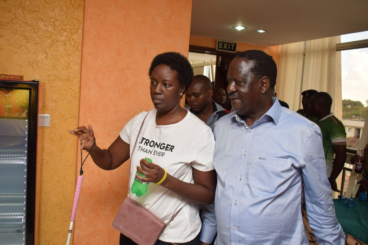 Raila's Visually Impaired Daughter Sees A Political Comeback