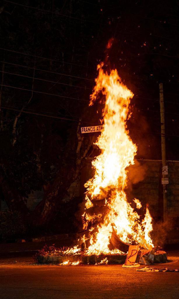 Photos: Dik Dik residents burn down Francis Atwoli